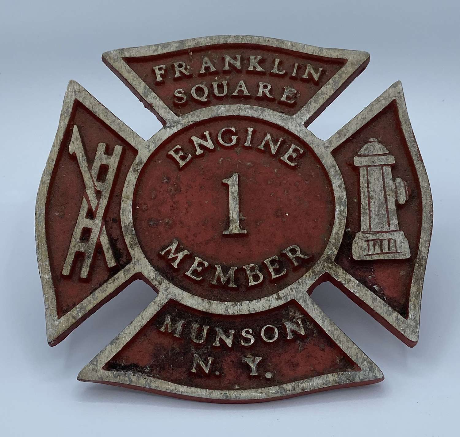 1940s Franklyn Square Engine 1 Member Munson NYFD Plaque