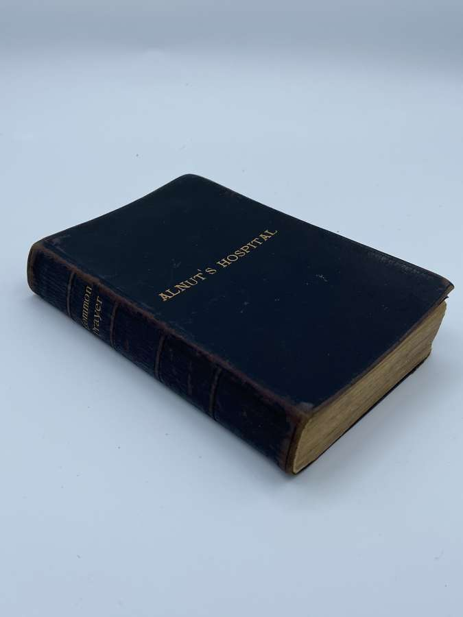 Victorian Boer War 1900 Dated Alnut's Hospital Common Prayer Bible