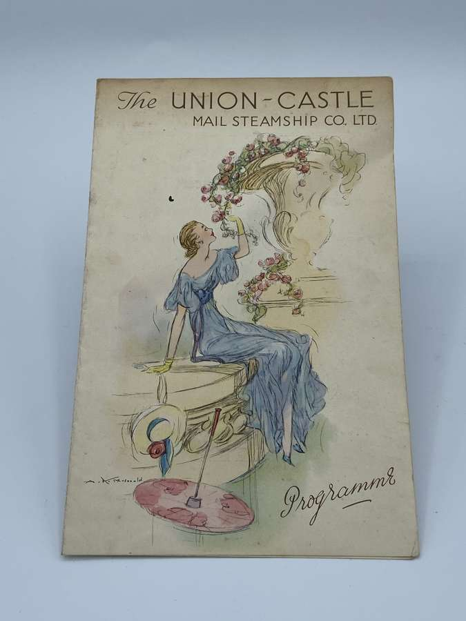 The Union Castle Mail Steamship Co Ltd Programme August 7th 1938