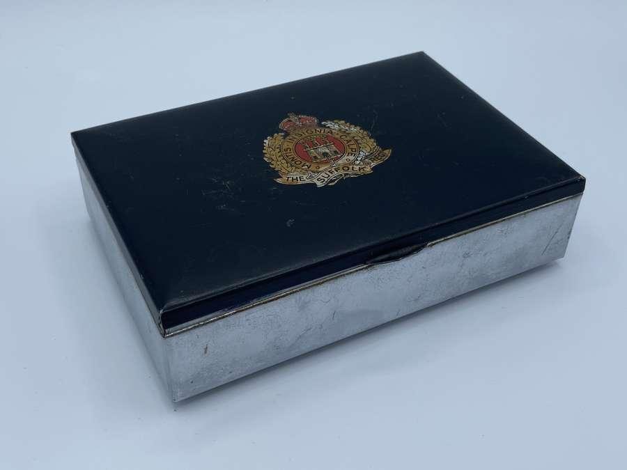 WW2 The Suffolk Regiment Cigar Box