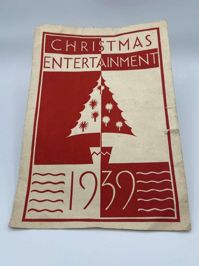 WW2 1939 Christmas Entertainment Booklet