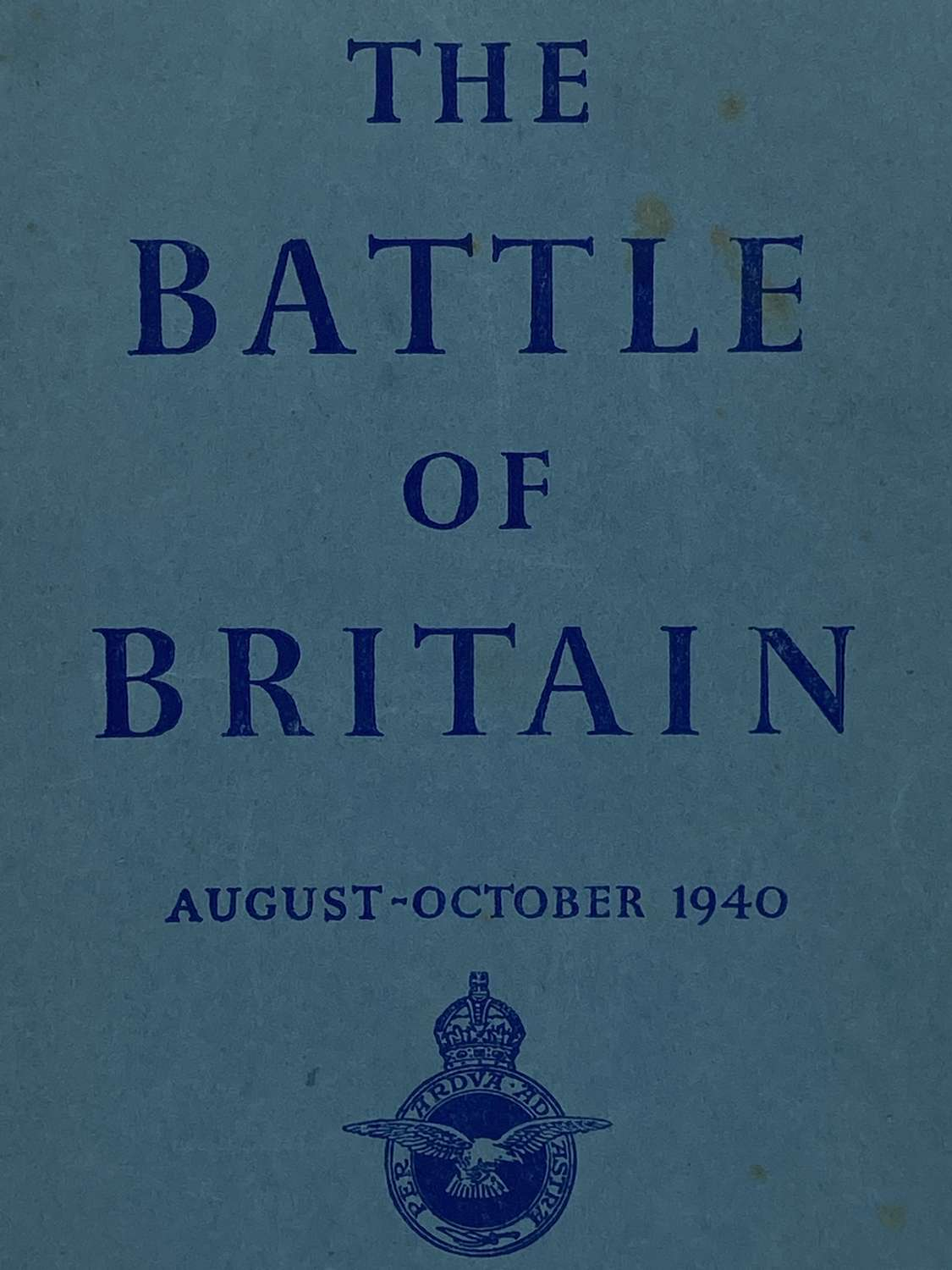 Ww2 1941 Battle Of Britian Air Ministry Booklet