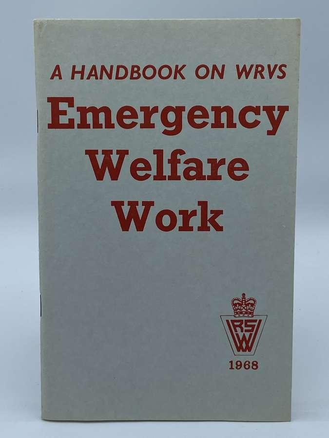 1968 Cold War Hand Book On WRVS Emergency Welfare Work Book