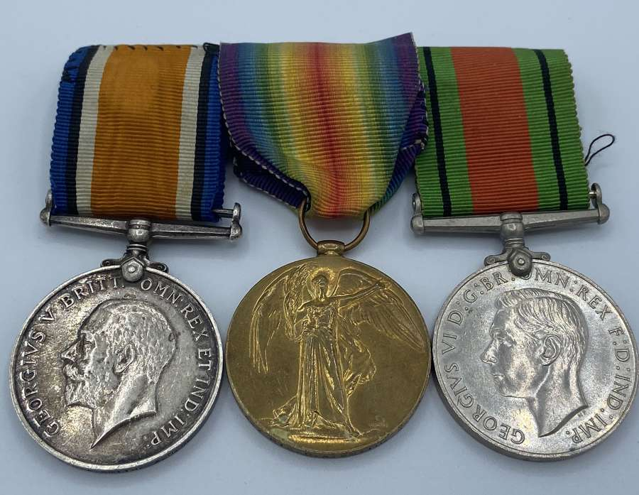 WW1 Medal Group Victory & War Medal Group Pte C A Smith Army Ordnance