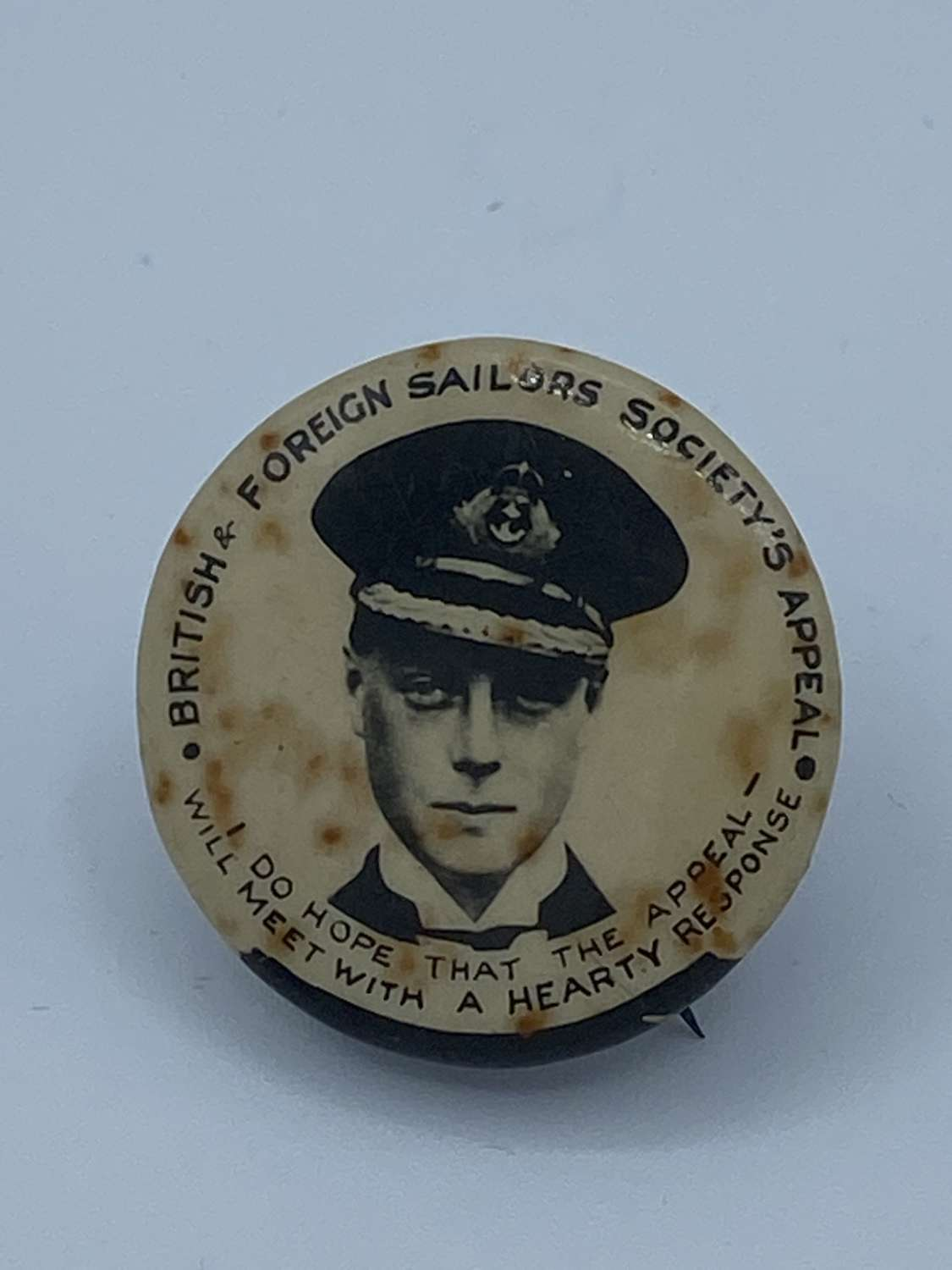 WW1 British And Foreign Sailors Society Appeal Badge Royal Navy