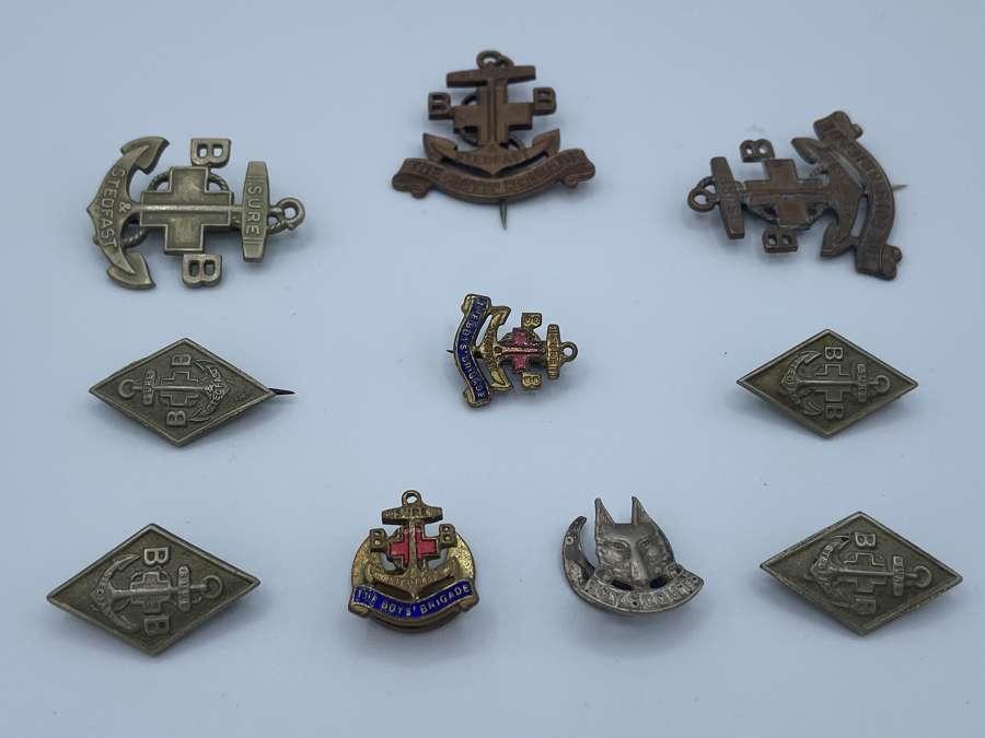 WW1 & WW2 Boys Brigade Job Lot Of Badges And Pins