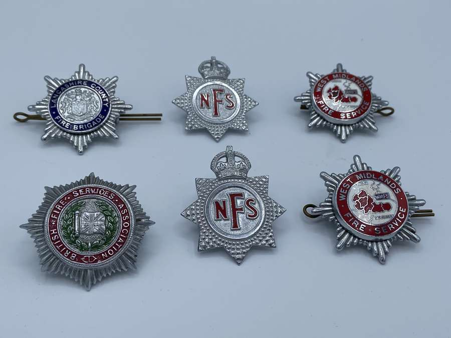 Joblot Of WW2 To 1950s National Fire Department Badges