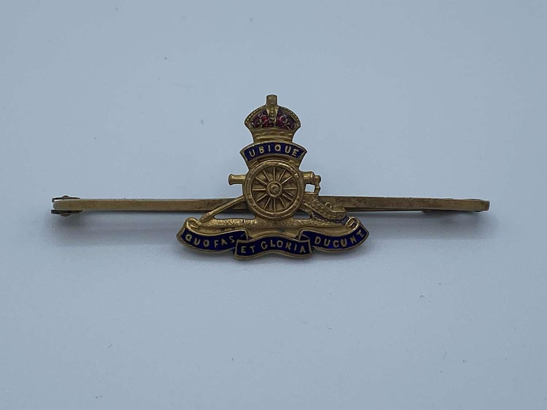 WW1 Royal Artillery Sweetheart Brooch Badge