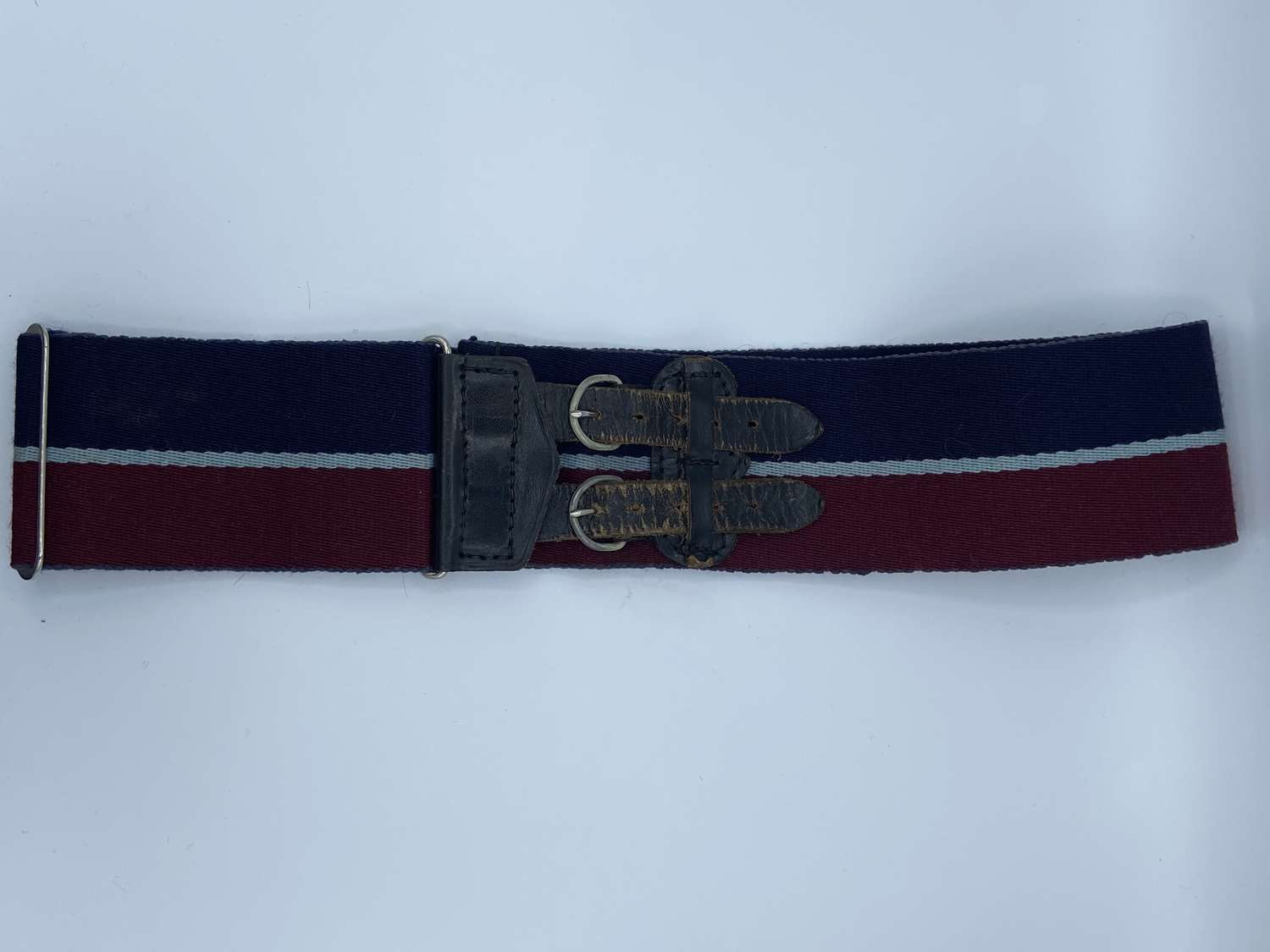 Post WW2 RAF Stable Belt Double Leather Buckle