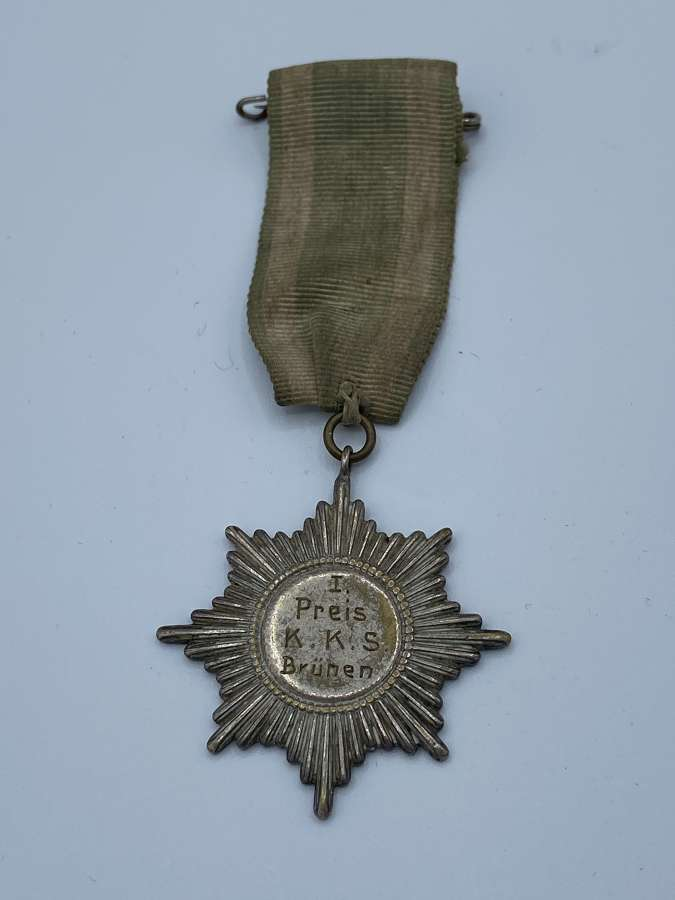 Pre WW1 German 1st Prize Shooting Silver Medal To K.K.S