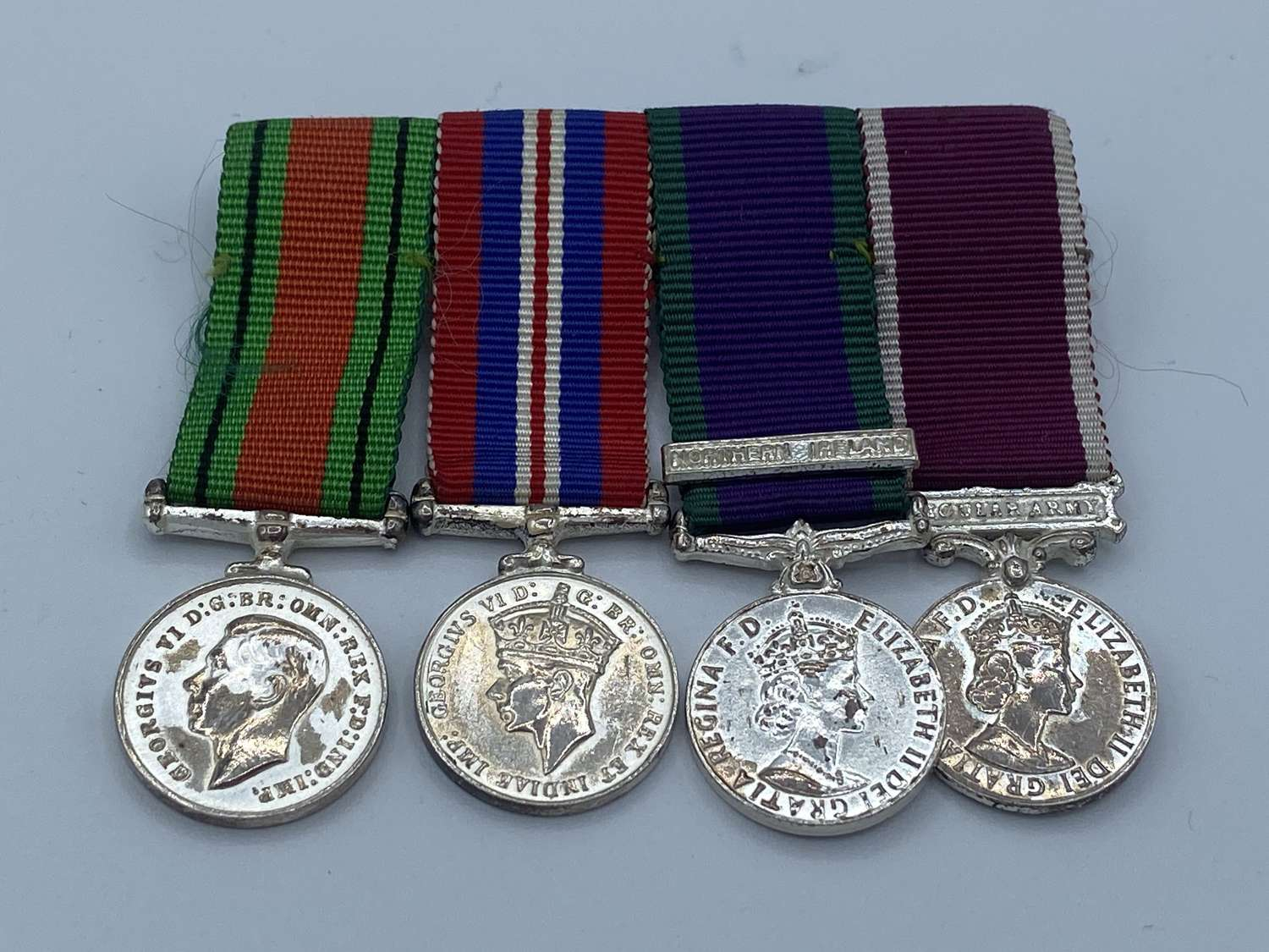 WW2 Minature Medals War And Defence Medals GSM Northern Ireland Army