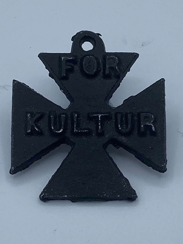 WW1 British For Kultur German Propaganda Cross