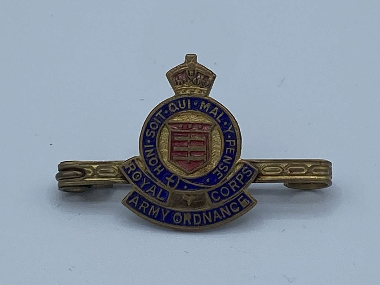 WW1 Royal Army Ordnance Corps Sweetheart Brooch