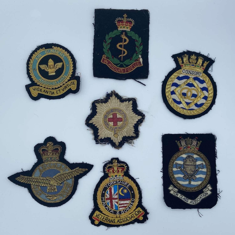 Job Lot Of WW2 And Post War Regimental Veteran Blazer Patches