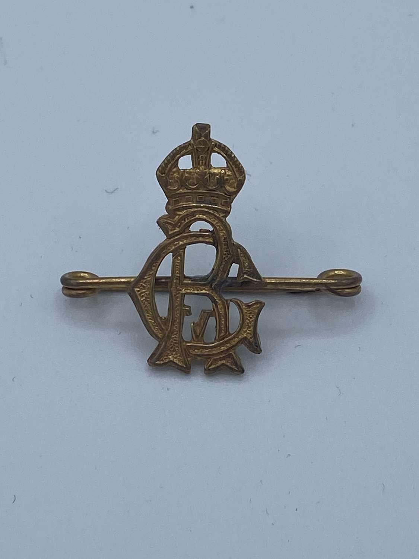 WW2 George Reigns GR Royal Cypher Brooch Badge