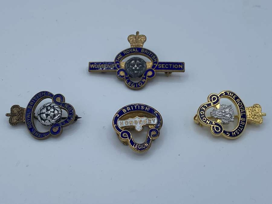 Job Lot Of WW2 British Legion Honoury Women's Section Badges