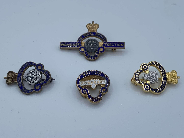 Job Lot Of WW2 British Legion Honoury Women's Section Badges