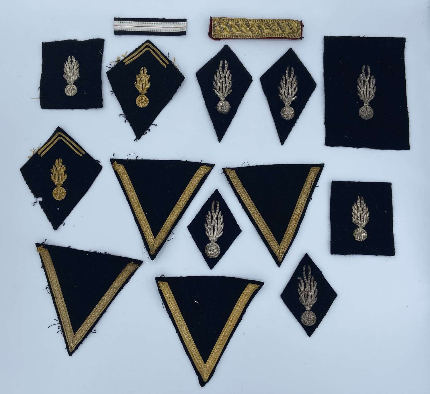 Joblot Of French 1950s Military Bullion Patches