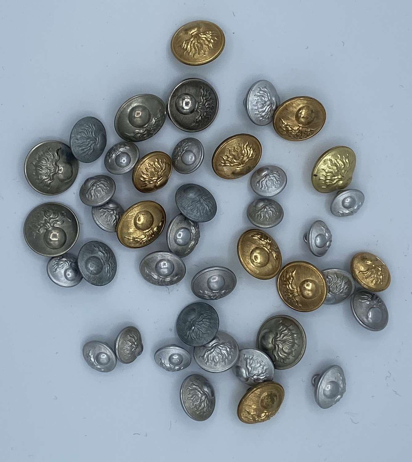 Joblot Of French Ww2 And 1950s French Tunic Buttons