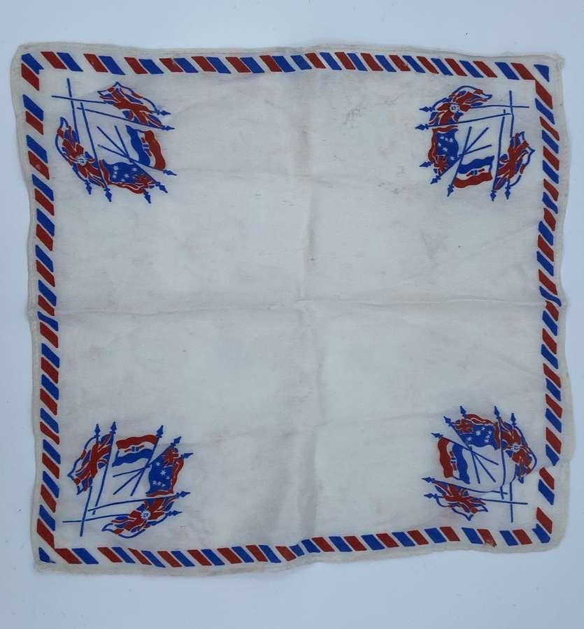 WW1 British Allies Silk Hankerchief British, South Africa Flags etc