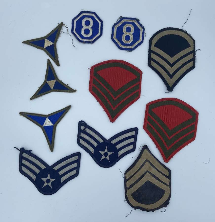 Joblot Of 11 Vintage USAF United States Air Force Patches