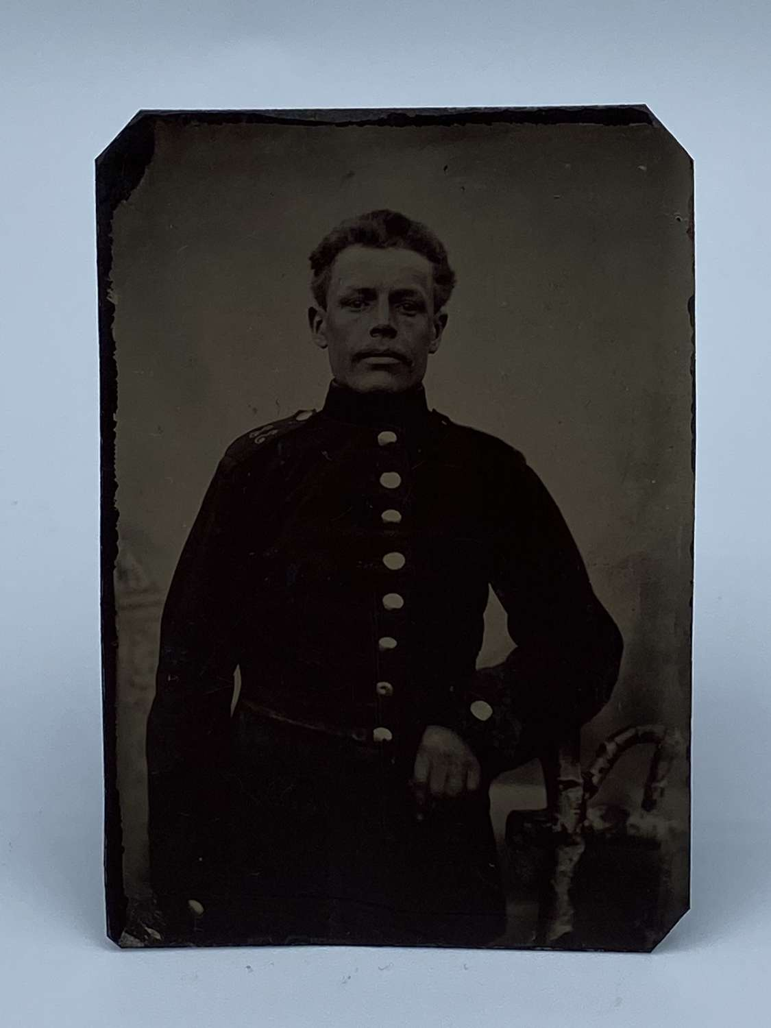 1870s Tintype German Officer 33rd Infantry Photograph
