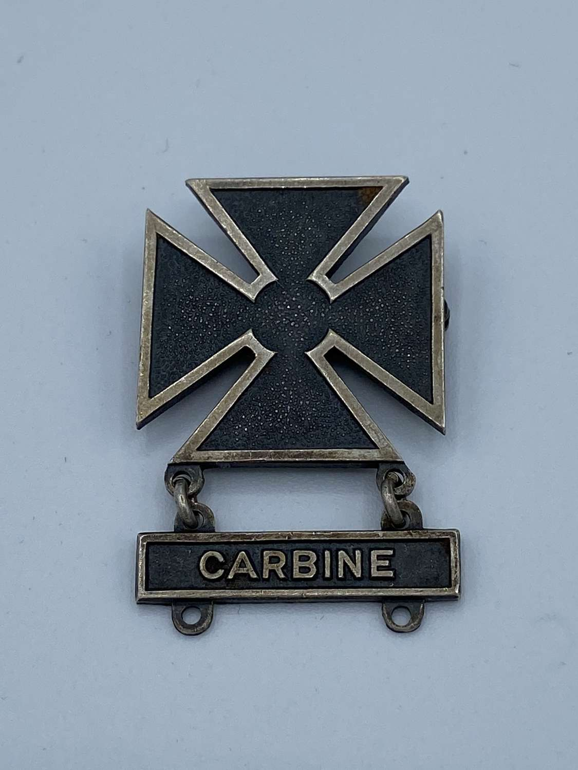WW2 Us Sterling Silver Carbine Marksman Badge