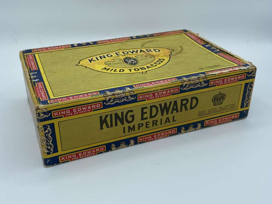 Large WW1 King Edward Imperial Cigarette Box