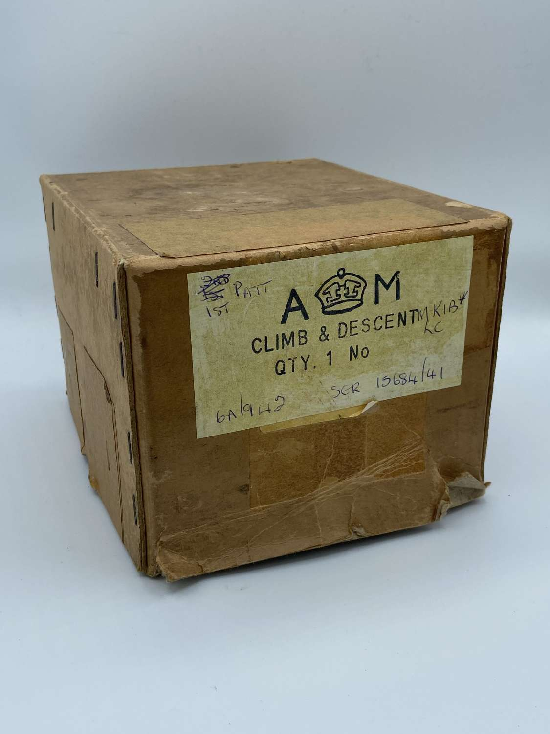 WW2 Air Ministry Climb & Descent Instrument Dial Box