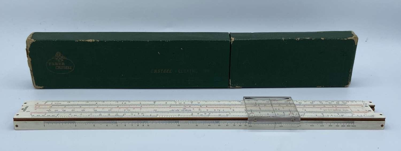 Vintage A W Faber Castell Slide Engineers Ruler