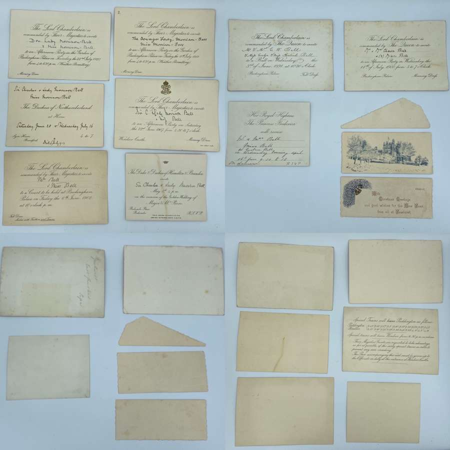 Lot Of Royal Invitations To Lady Morrison-Bell 1891-1920