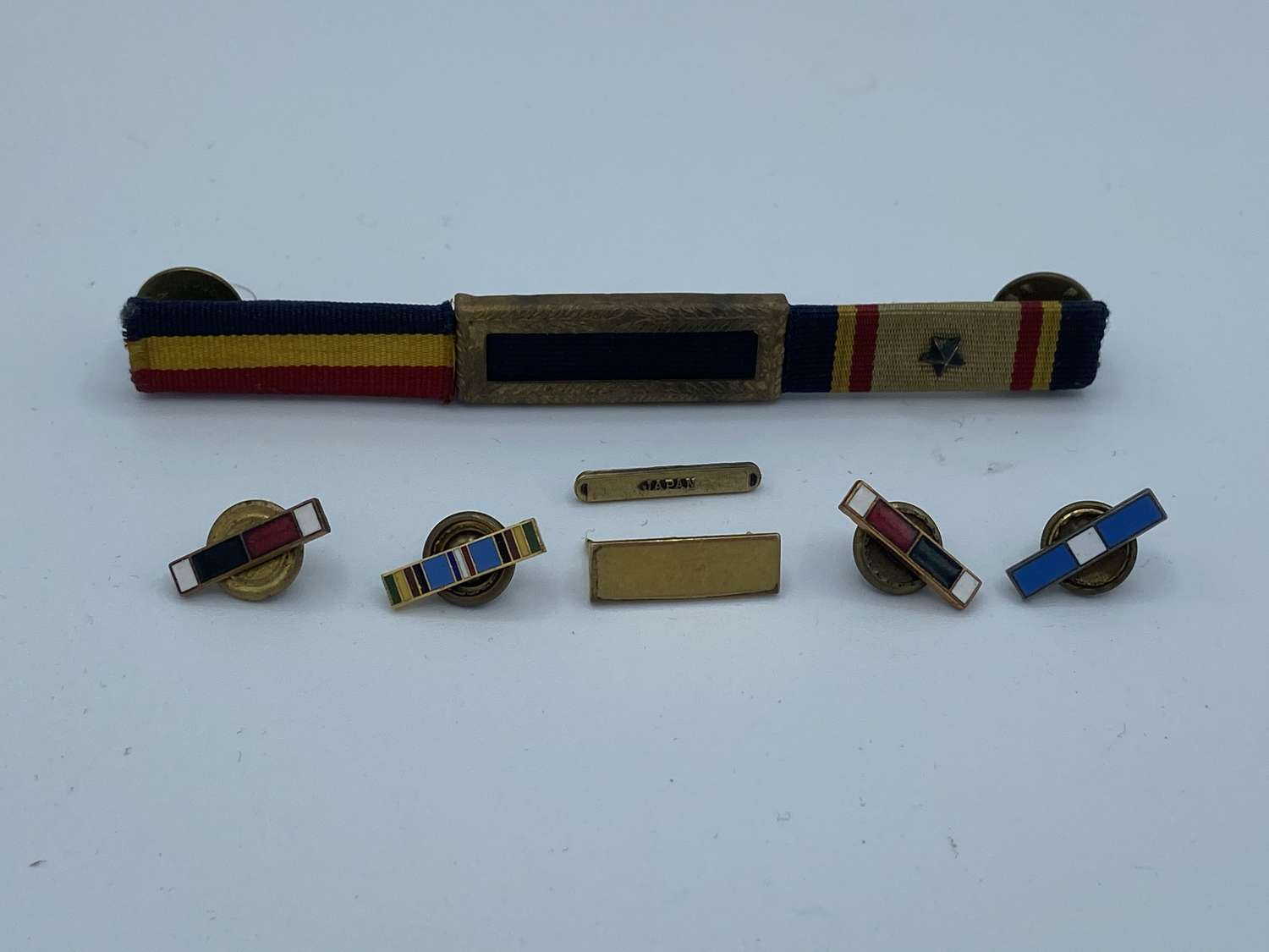 WW2 United State Medal Bar Lot & Enamel Medal Bars Presidential Citat