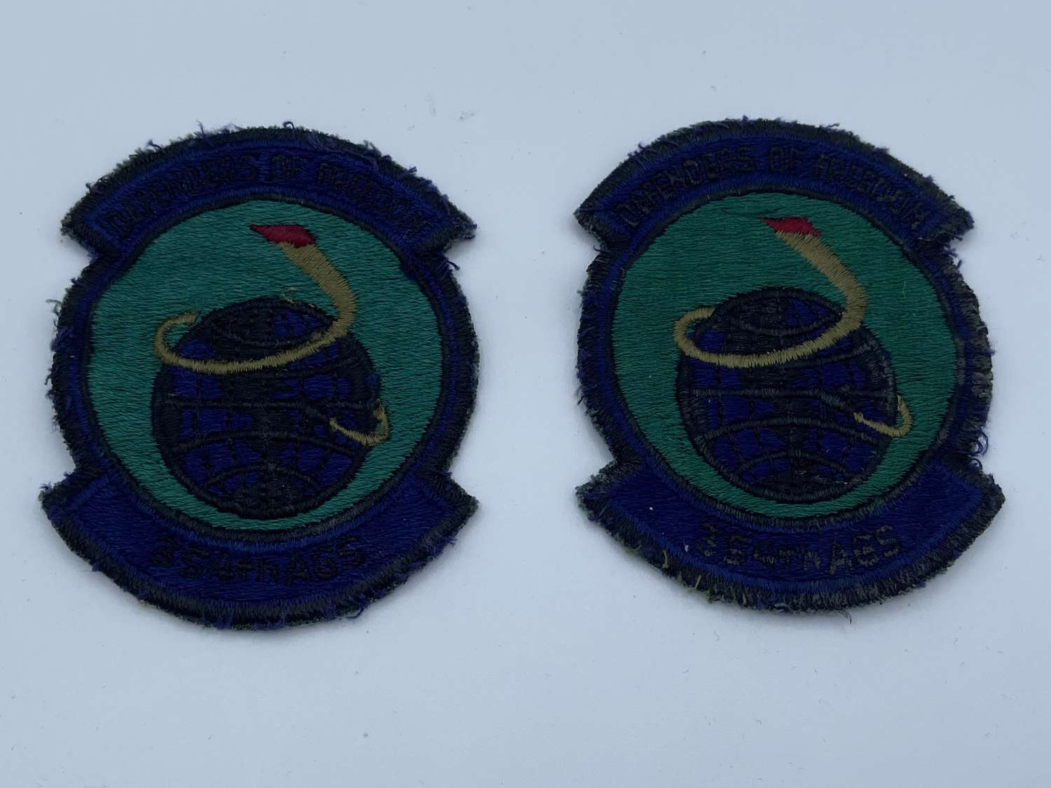 Vintage 354th AGS Generation Squadron USAF Patches X 2