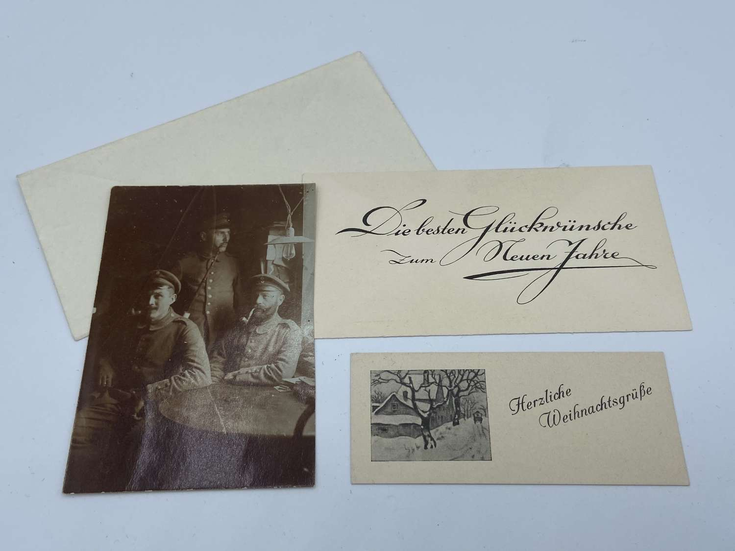 WW1 German Memorial Card And Photograph