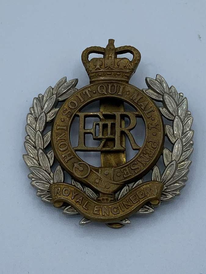 Royal Engineers Slider Cap Badge Elizabeth II