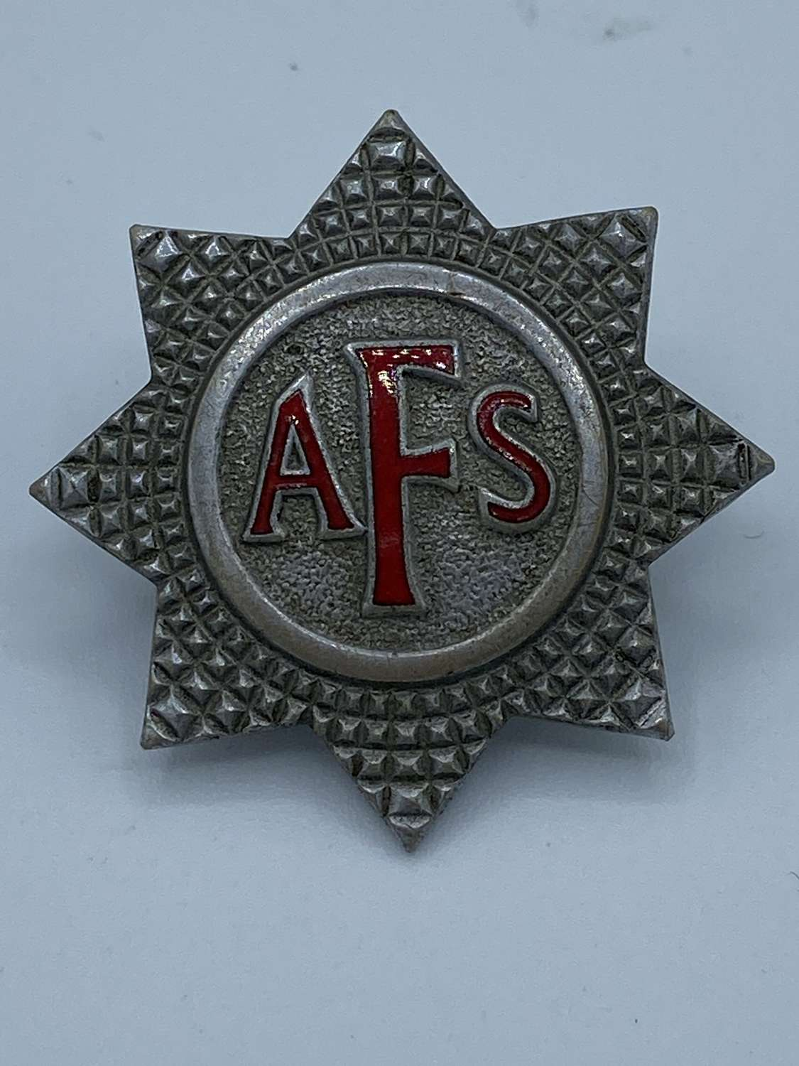 WW2 AFS Auxiliary Fire Service Cap Badge