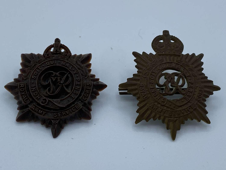 WW2 Royal Army Service Corps RASC Cap Badge Brass & economy