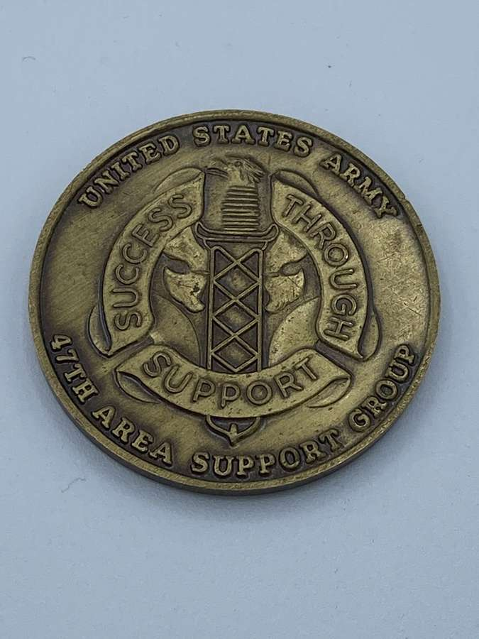 US Army Military Community Uk Support Group Medal Coin