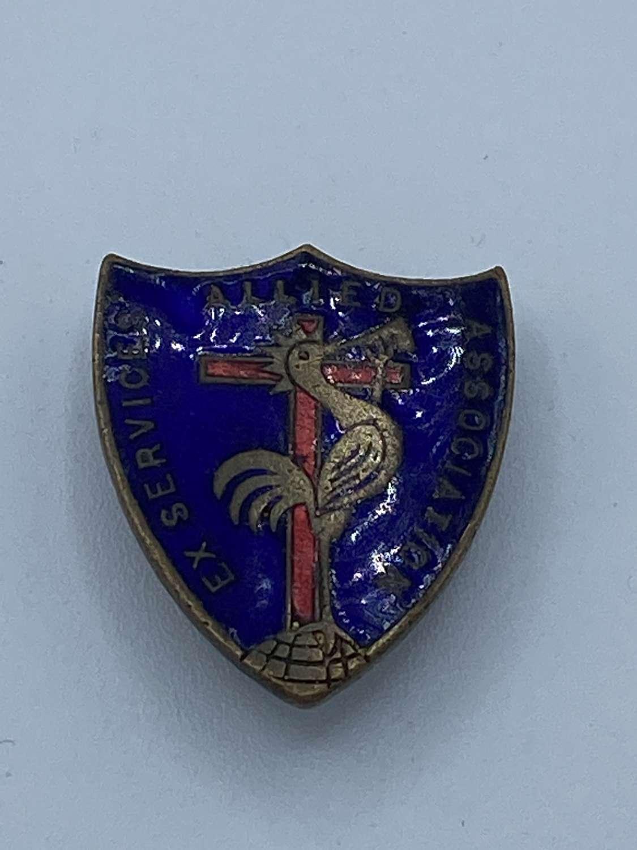 WW2 Allied Ex Serviceman Enamel Badge