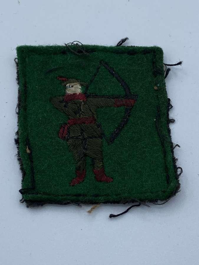 WW2 British Army North Midlands District Cloth Formation Patch