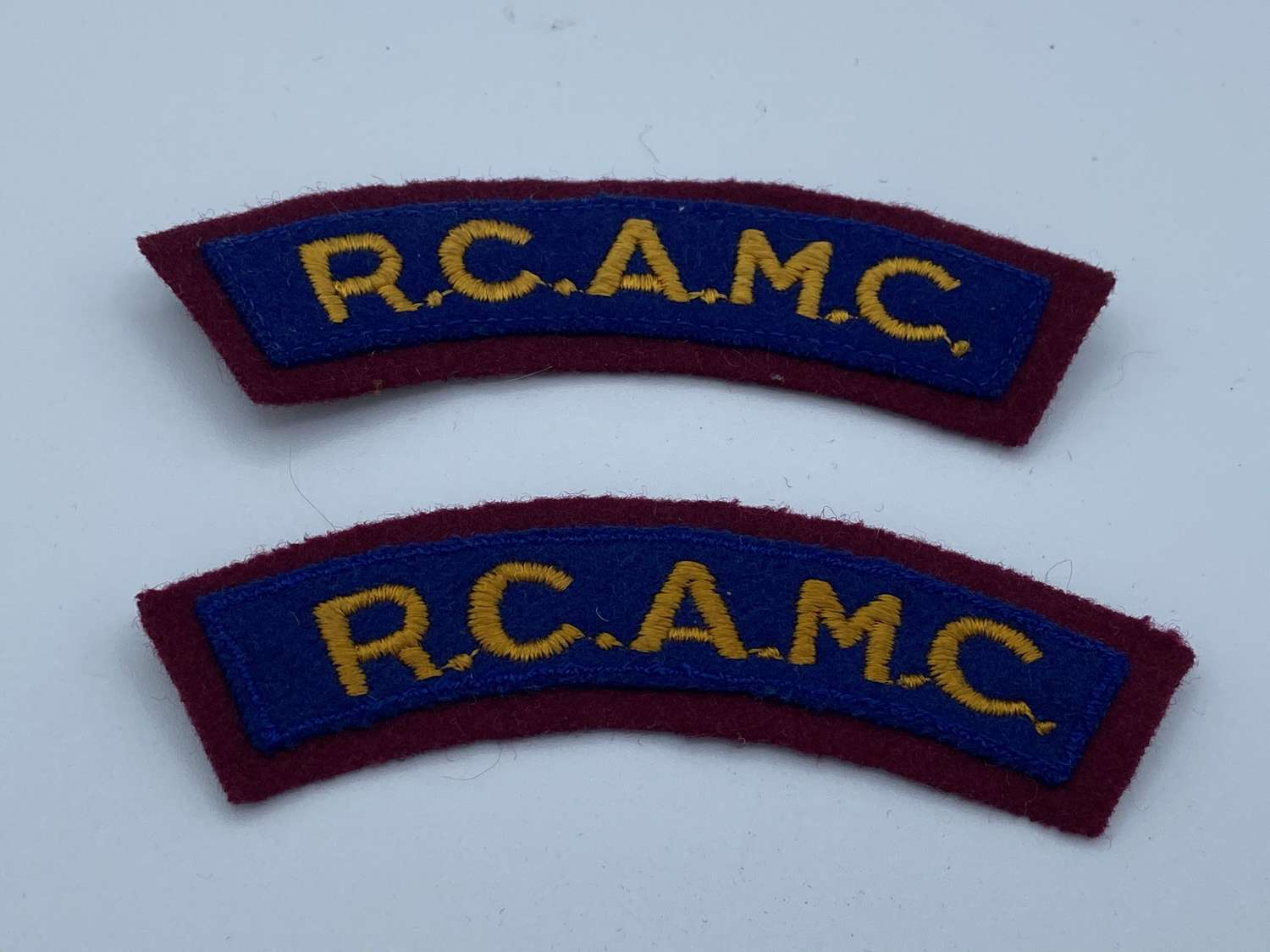 1950s Royal Canadian Army Medical Corps Shoulder Titles