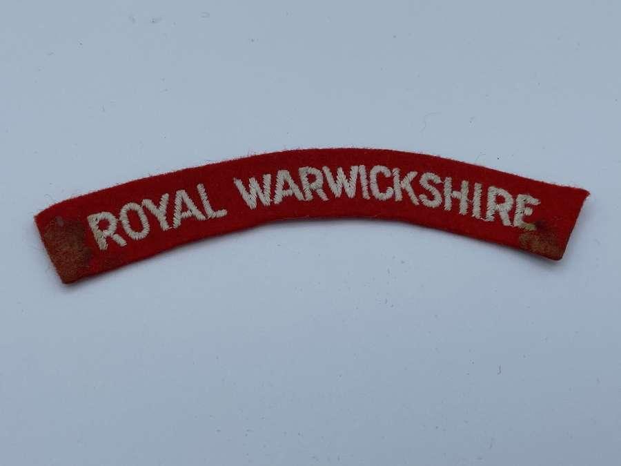 Ww2 British Army Royal Warwickshire Shoulder Title Patch