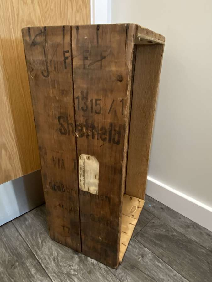 Large Post WW2 GDR East Germany Wooden Crate F F Franklyn Tools Sheffi