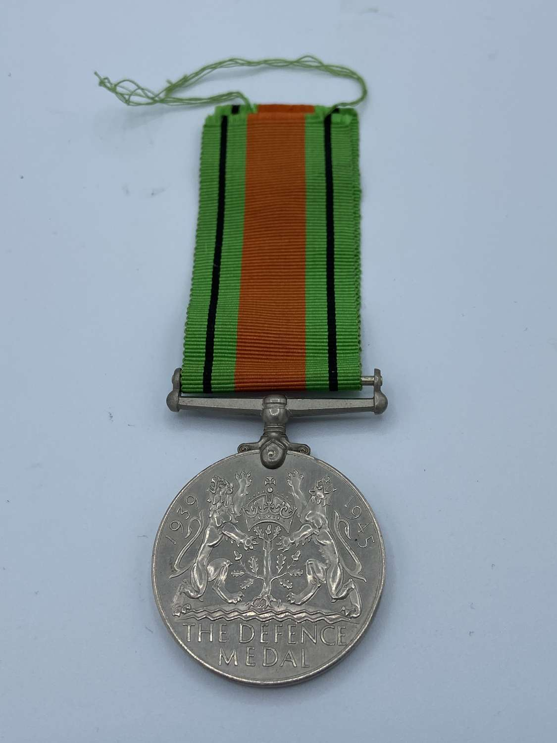 WW2 British Defence Medal And Ribbon