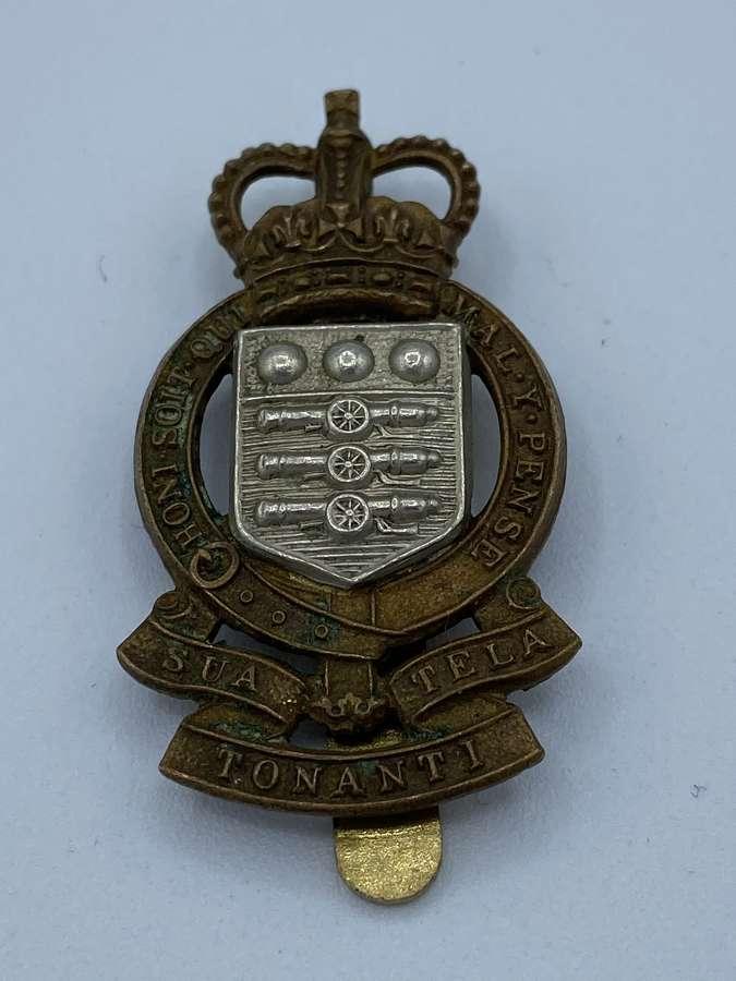 WW2 Royal Army Ordnance Corps Beret Badge J R Gaunt London