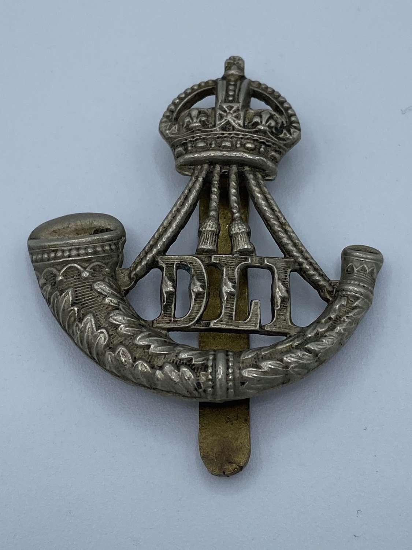 WW1 Durham Light Infantry DLI Slider Cap Badge Kings Crown