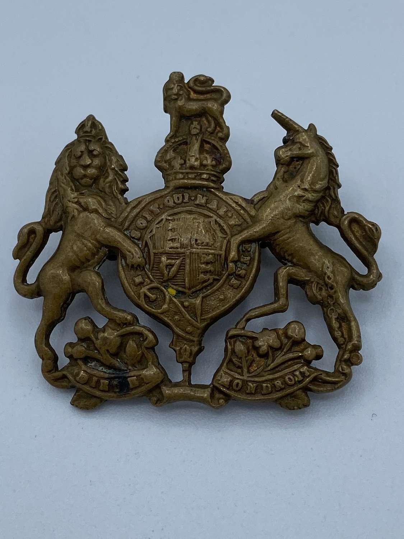 WW2 Brass British General Service Corps Regiment Cap Badge