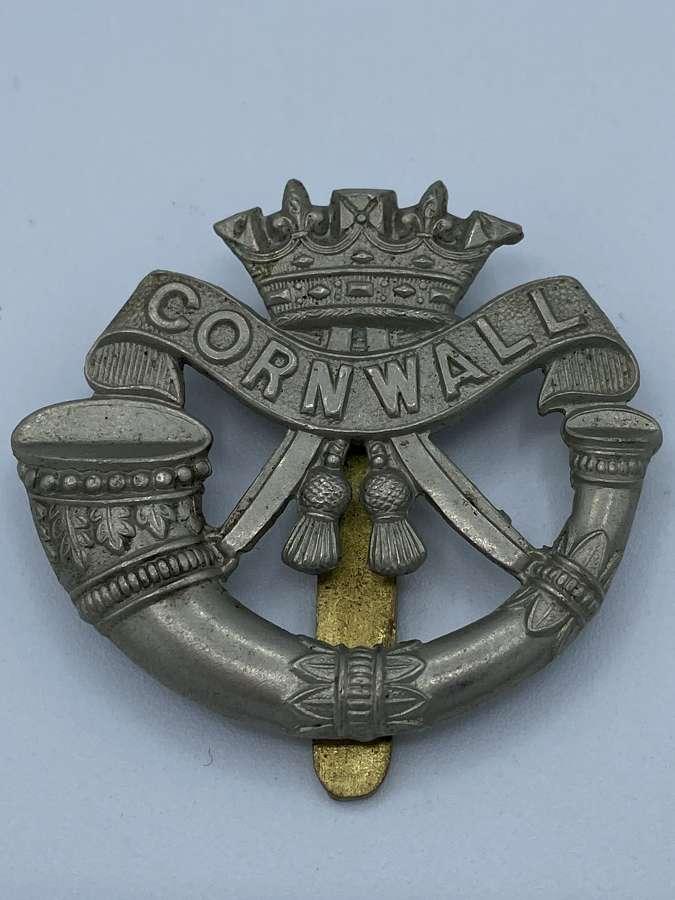 WW2 Duke Of Cornwall Light Infantry DCLI Slider Cap Badge
