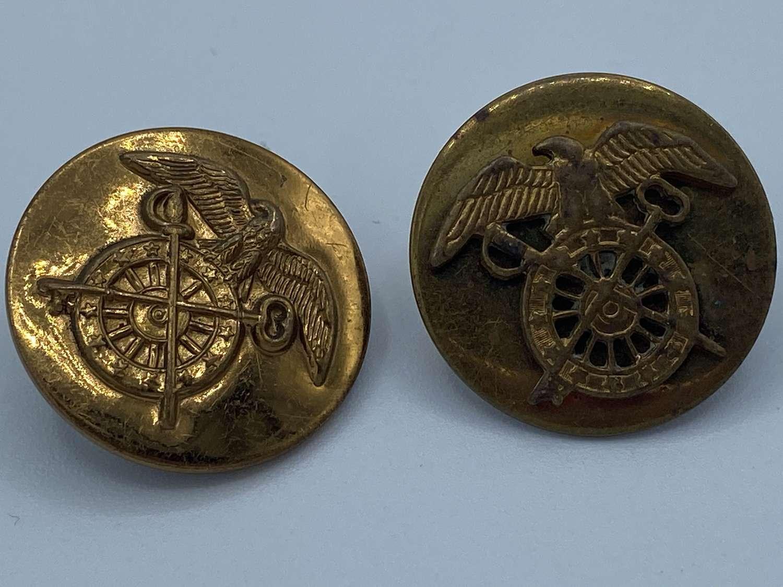 Pair of WW2 United States Quatermaster Collar Disk
