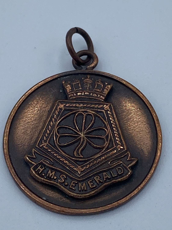 WW2 Bronze Royal Navy HMS Emerald Sports Medal